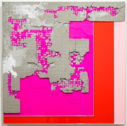 Troy Simmons Cement, Acrylic, Aluminum 36x36x3 Inches